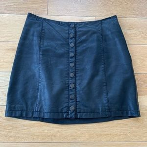 "Free People Skirts - Free People ""oh snap"" vegan leather skirt"